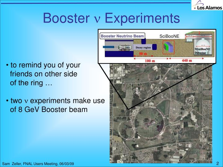 Booster experiments