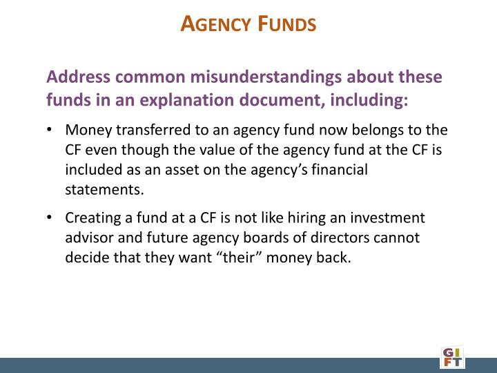 Agency Funds