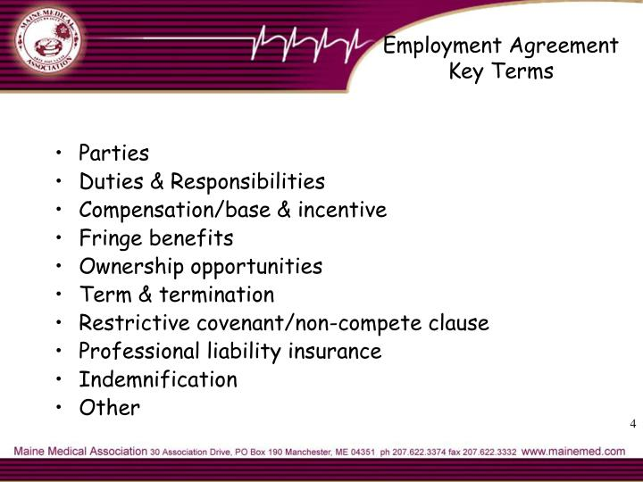Employment Agreement Key Terms