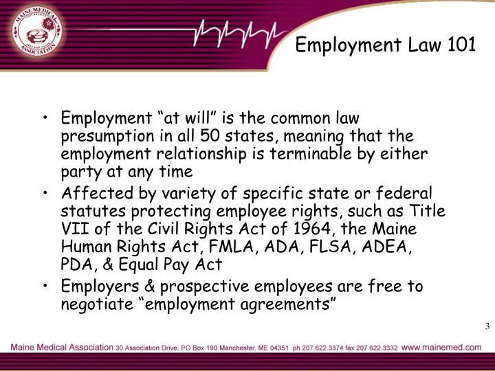 Employment Law 101