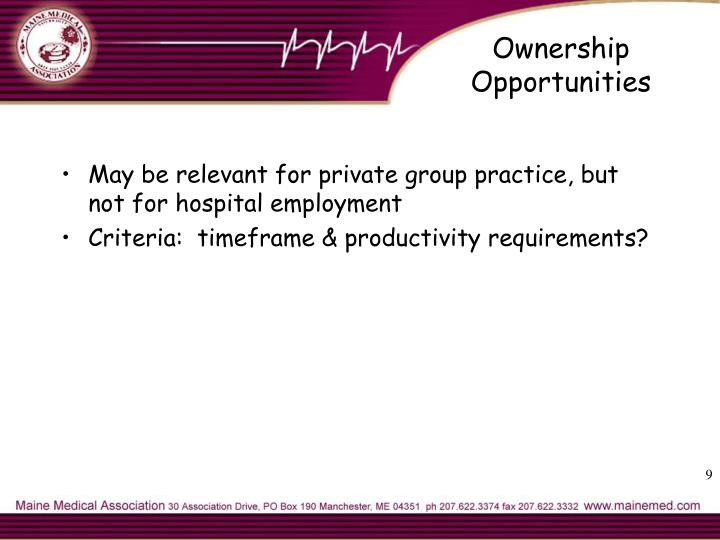Ownership Opportunities