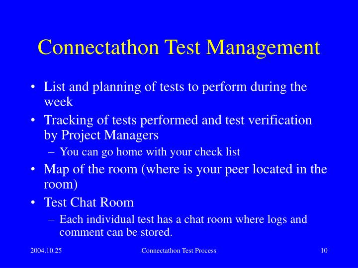 Connectathon Test Management