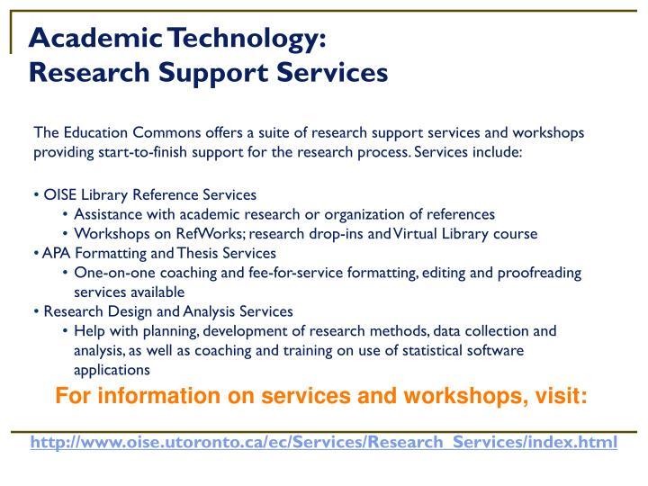 Academic Technology: