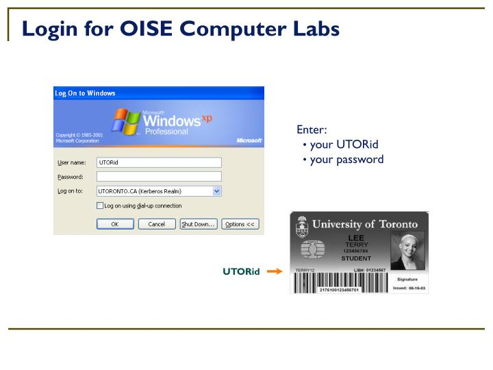 Login for OISE Computer Labs