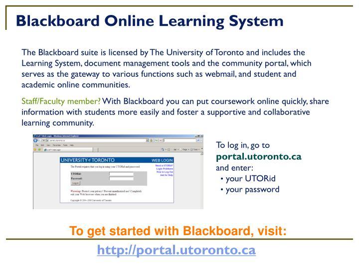 Blackboard Online Learning System