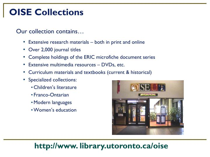 OISE Collections