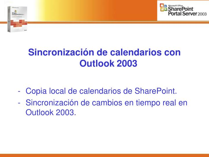 Sincronización de calendarios con Outlook