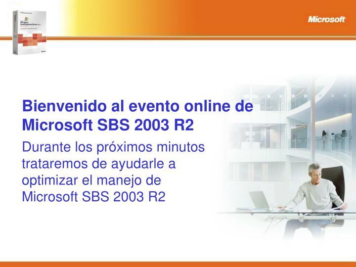 Bienvenido al evento online de