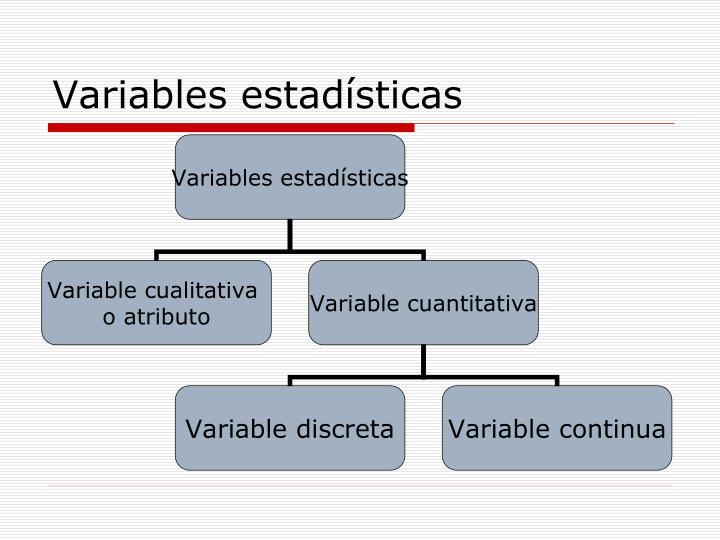 Variables estadísticas