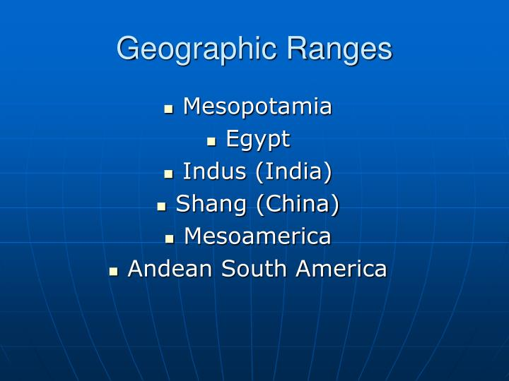 Geographic Ranges
