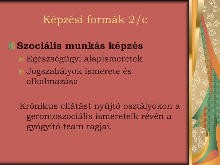 Képzési formák 2/c