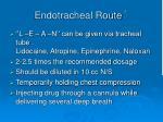 endotracheal route