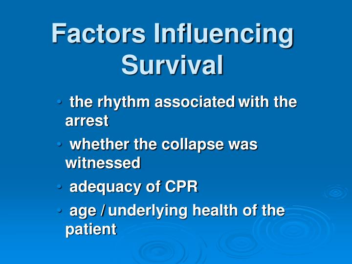 Factors Influencing Survival