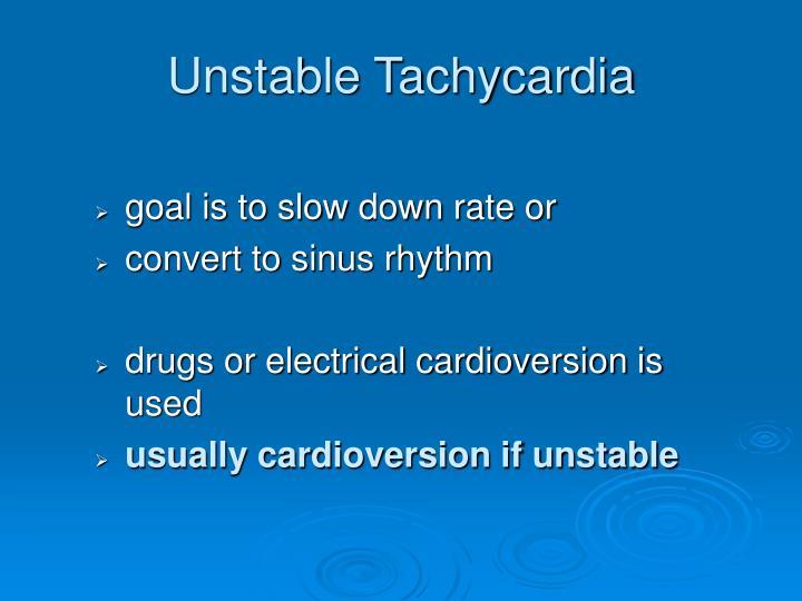 Unstable Tachycardia