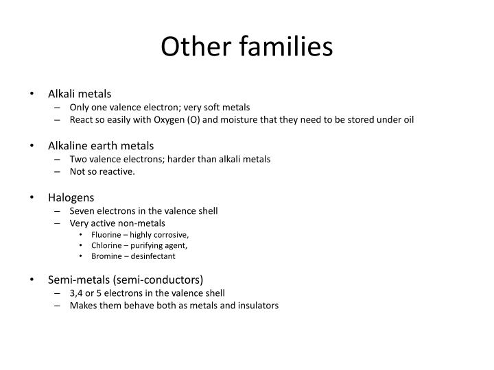 Other families
