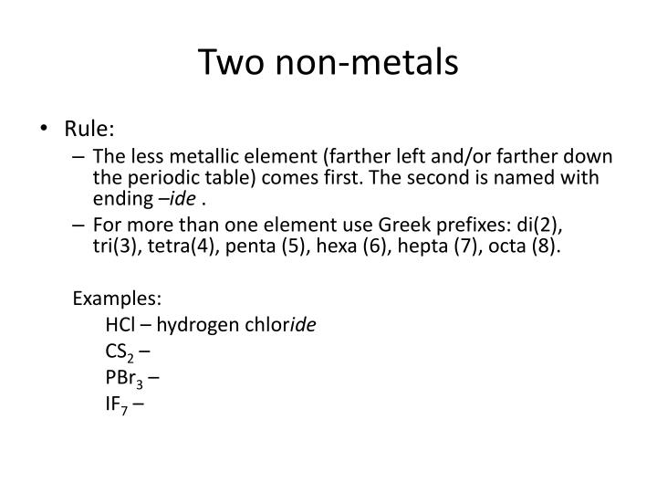 Two non-metals