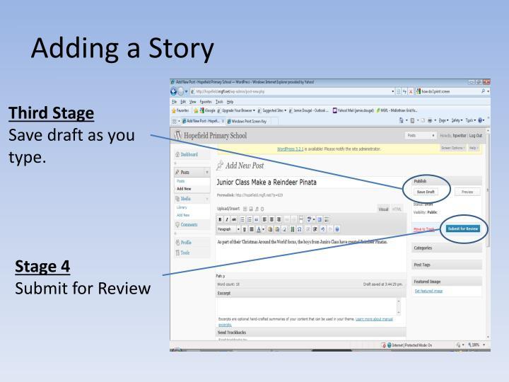 Adding a Story