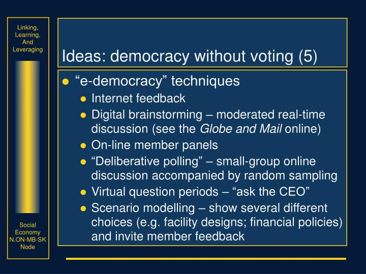 Ideas: democracy without voting (5)