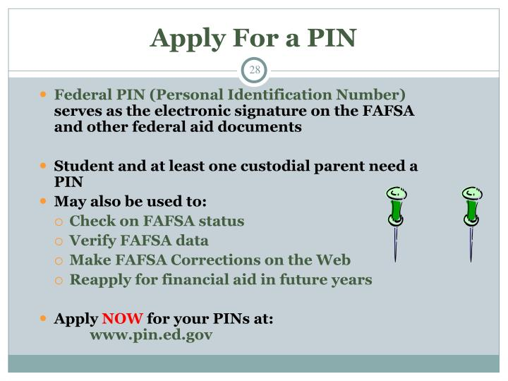 Apply For a PIN
