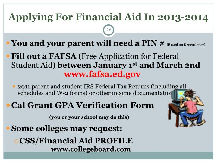 Applying For Financial Aid In 2013-2014