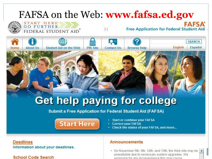 FAFSA on the Web: