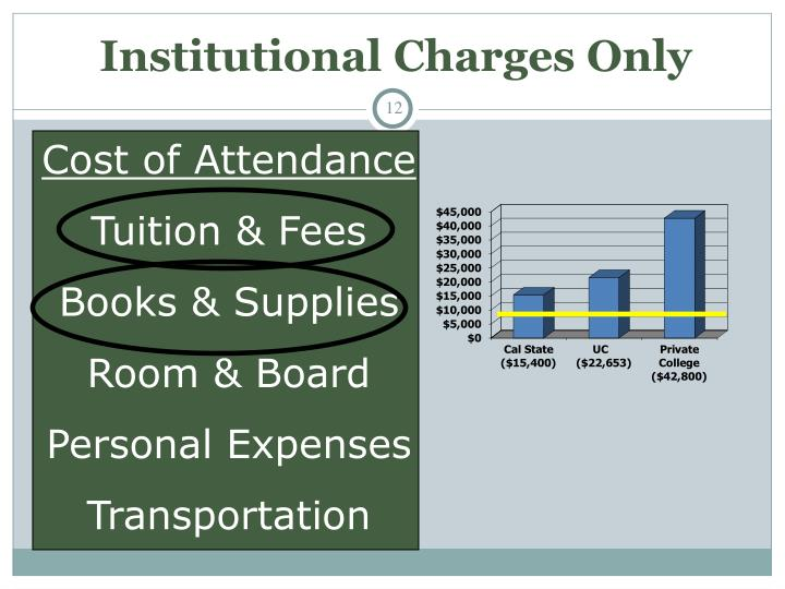 Institutional Charges Only