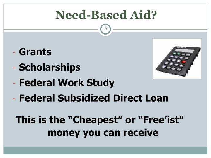 Need-Based Aid?