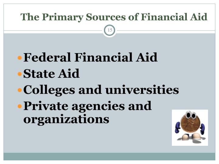 The Primary Sources of Financial Aid