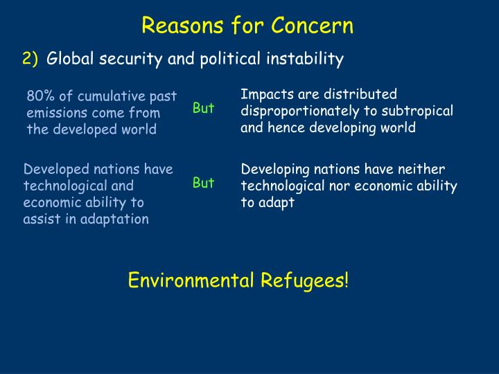 Global security and political instability