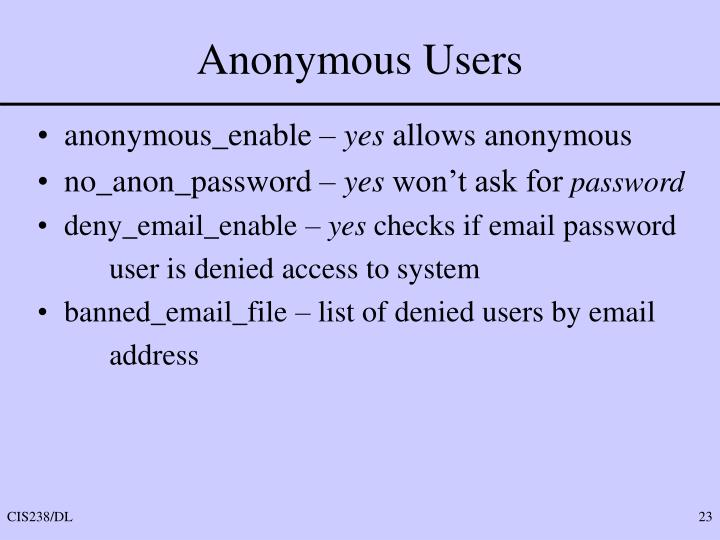 Anonymous Users