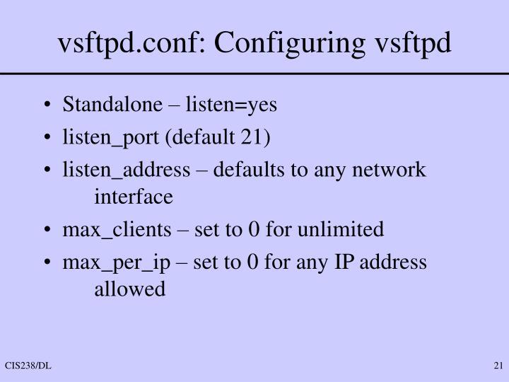 vsftpd.conf: Configuring vsftpd