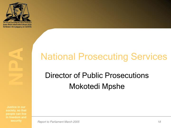 National Prosecuting Services