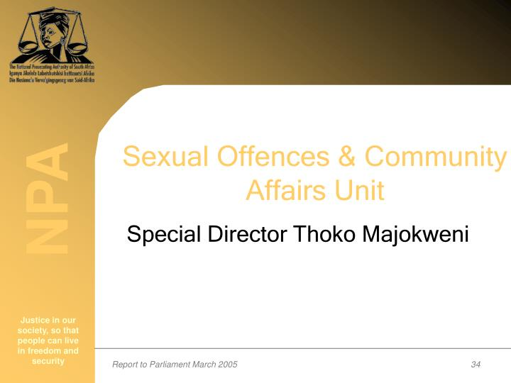 Sexual Offences & Community Affairs Unit