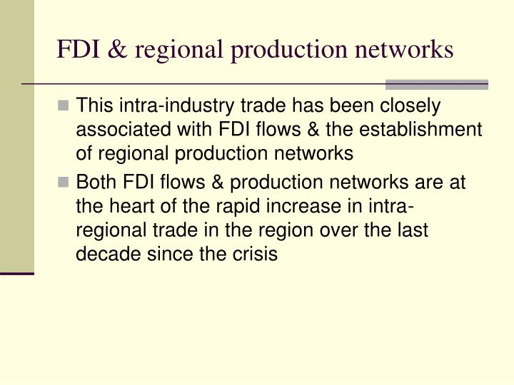 FDI & regional production networks