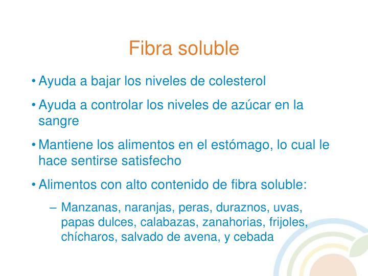 Fibra soluble