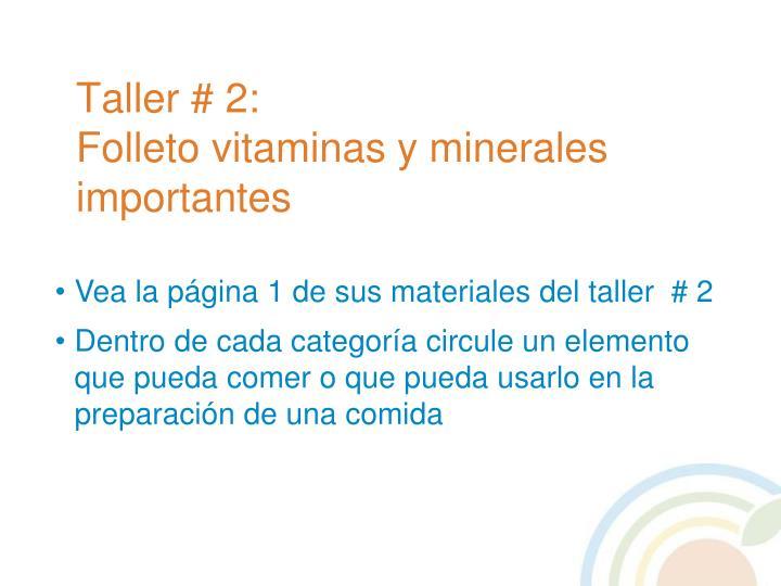 Taller # 2:
