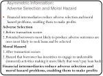 asymmetric information adverse selection and moral hazard