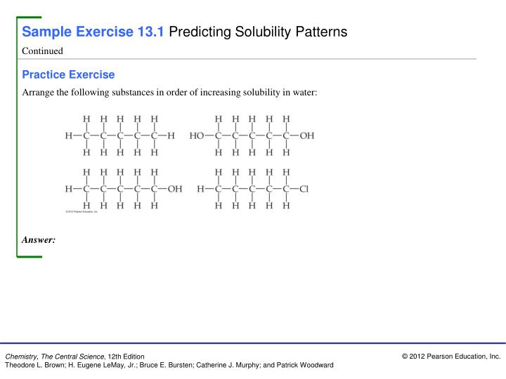 Sample Exercise 13.1