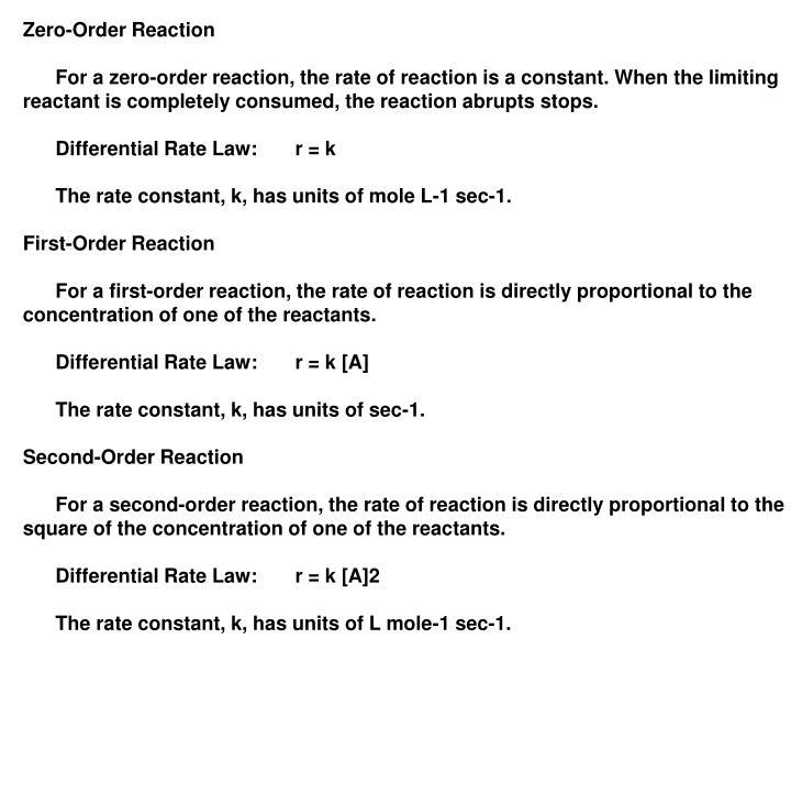 Zero-Order Reaction