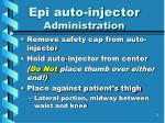 epi auto injector administration
