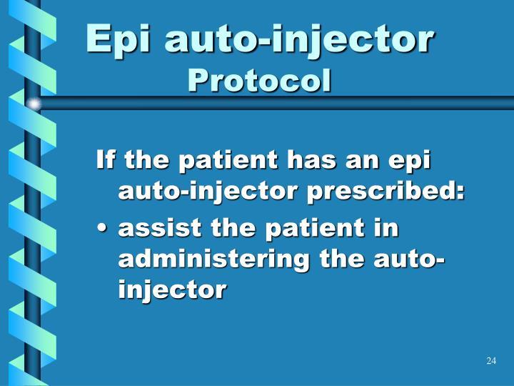 Epi auto-injector