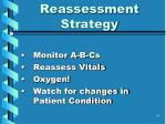 reassessment strategy