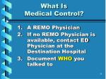 what is medical control