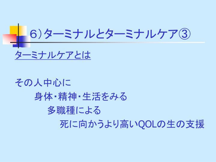 6)ターミナルとターミナルケア③