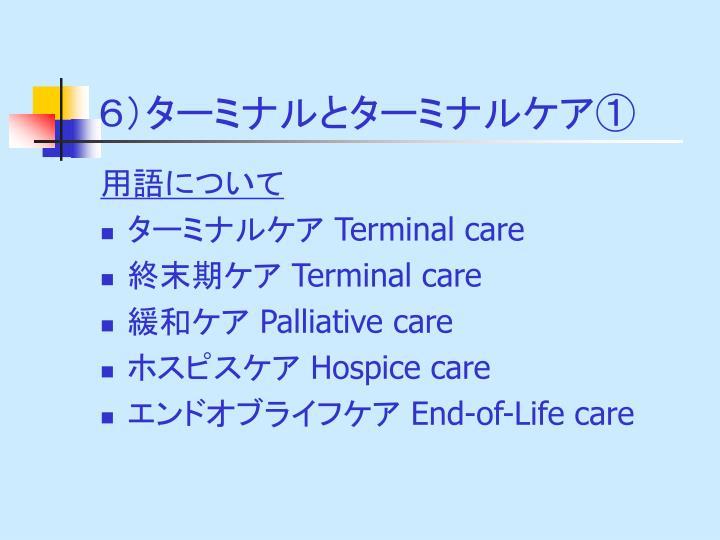 6)ターミナルとターミナルケア①