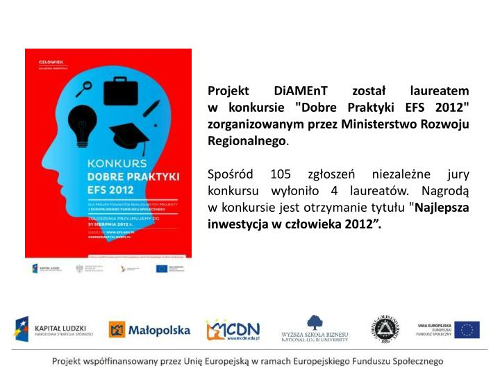 Projekt DiAMEnT został laureatem