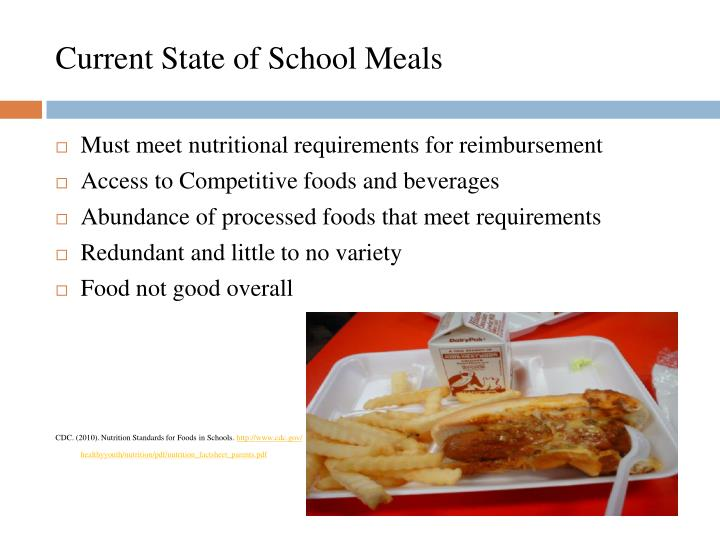 Current State of School Meals