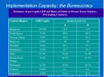 implementation capacity the bureaucracy1