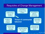 requisites of change management1