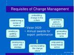 requisites of change management3
